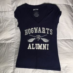Warner Bros. Tops - Harry Potter Alumni Navy V-Neck